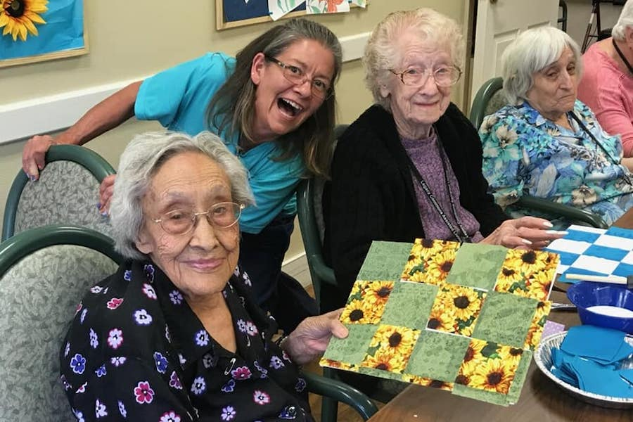 residents quilting canvas