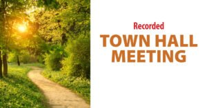 recorded town hall meeting poster
